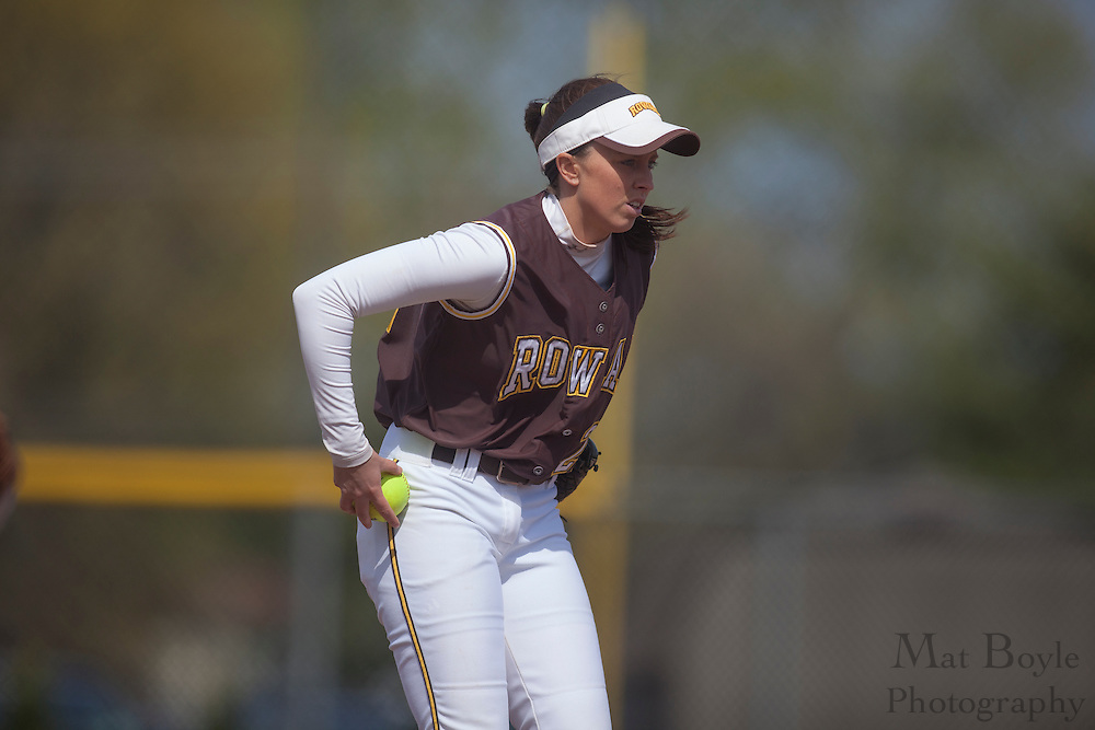Rowan University Softball Senior Jamie Minix (22); Rutgers-Camden softball at Rowan University on Tuesday April 10, 2012 in Glassboro, NJ. (photo / Mat Boyle)