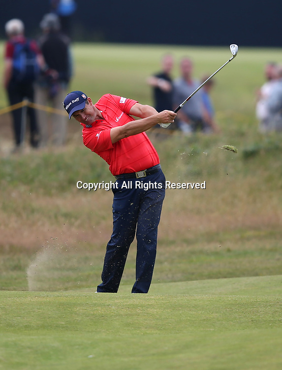 July 19th 2017, Royal Birkdale Golf Club, Southport, England; The 146th Open Golf Championship, Final Practice Day; 2008 Open Champion Padraig Harrington (IRE) fires his approach to the green on the tenth hole
