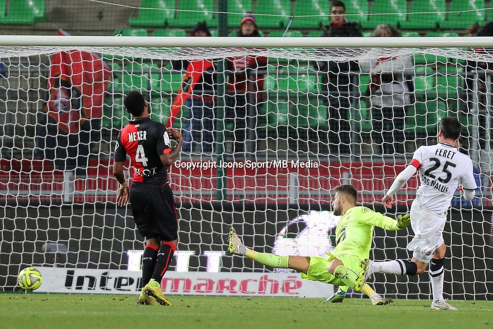 BUT Julien FERET  - 25.01.2015 - Rennes / Caen  - 22eme journee de Ligue1<br />Photo : Vincent Michel / Icon Sport