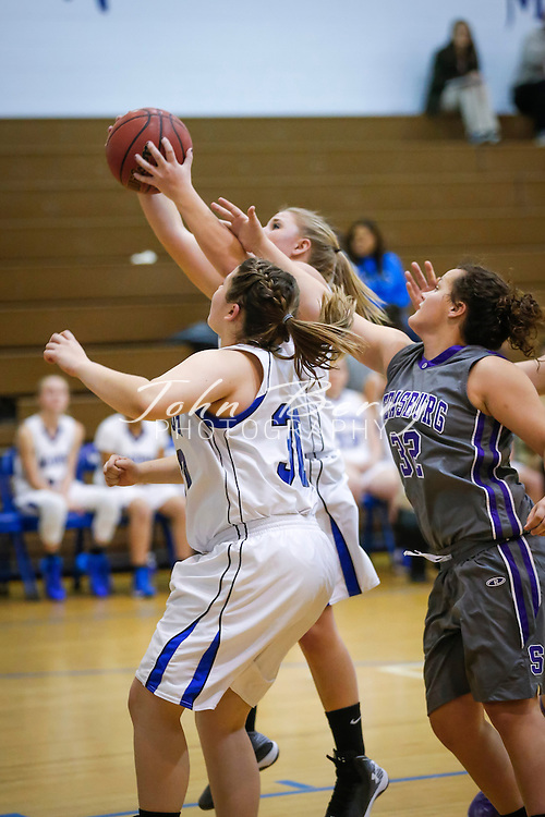 December 10, 2014.  <br /> MCHS Varsity Girls Basketball vs Strasburg.