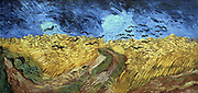 Crows 0ver Wheatfield' (1890)  by Vincent Van Gogh (1853-1890) Dutch painter.Oil on canvas. Rijksmuseum, Amsterdam.