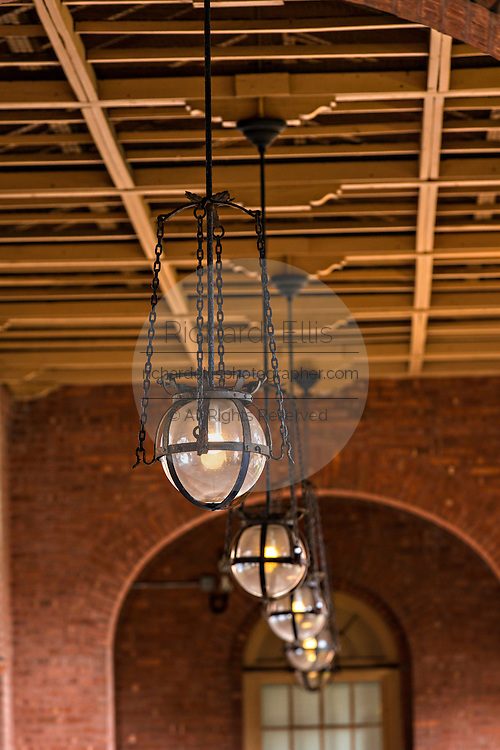 Lights at Flagler College in St. Augustine, Florida. The building was originally the Ponce de Leon Hotel.