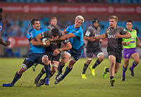 PRETORIA, SOUTH AFRICA - MAY 06: Matt Todd(c) of the Crusaders driving forward during the Super Rugby match between Vodacom Bulls and Crusaders at Loftus Versfeld on May 06, 2017 in Pretoria, South Africa.<br /> (Photo by Anton Geyser/Gallo Images)