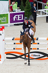 Scott Brash, (GBR), Hello Sanctos - Team & Individual Competition Jumping Speed - Alltech FEI World Equestrian Games™ 2014 - Normandy, France.<br /> © Hippo Foto Team - Leanjo De Koster<br /> 02-09-14