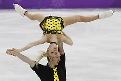 February 15, 2018 - Pyeongchang, South - EVGENIA TARASOVA and VLADIMIR MOROZOV  of Olympic Athlete from Russia compete in pairs free skating during the Pyeongchang 2018 Olympic Winter Games at Gangneung Ice Arena. (Credit Image: © David McIntyre via ZUMA Wire)