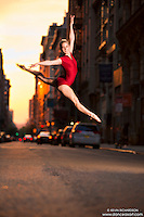 Manhattanhenge New York City- Dance As Art Photography Project featuring dancer, Erika Citrin