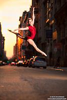 Manhattanhenge New York City- Dance As Art Photography Project featuring dancer, Erika Citrin