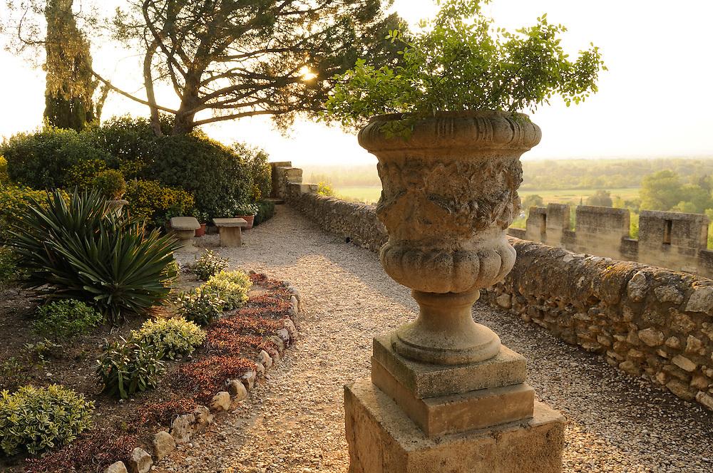 France, Languedoc Roussillon, Gard, Villeneuve-lez-Avignon, jardins de l'Abbaye Saint-André