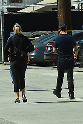 EXCLUSIVE: Tom Cruise is spotted heading to the studio with a female companion in Los Angeles. The Hollywood actor, who has recovered from breaking his ankle while filming earlier this year, is now preparing to star in the long-awaited 'Top Gun' sequel. It's been another rollercoaster year for Cruise, whose ex-wife Katie Holmes is dating actor Jamie Foxx. His latest flick 'Mission Impossible - Fallout' has earned over $700 million at the worldwide box office, including $212m in North America alone. That makes the Paramount/Viacom Inc. release their biggest movie since Transformers: Age of Extinction ($245m domestic/$1.1 billion worldwide) in June of 2014. 10 Sep 2018 Pictured: Tom Cruise. Photo credit: MEGA TheMegaAgency.com +1 888 505 6342