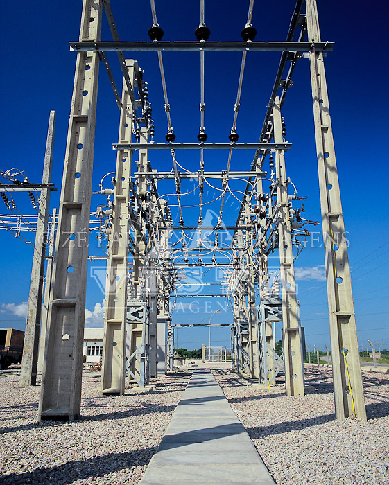 Subestacao eletrica, Florianopolis, Santa Catarina, Brasil. foto de Ze Paiva/Vista Imagens
