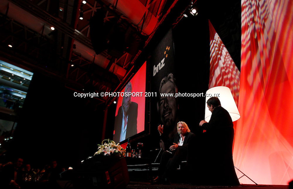 Sir Richard Branson during the Duco Event, Sir Richard Branson Live in Auckland, Viaduct Events Centre,  Auckland, New Zealand. Thursday 20 October 2011. Photo: Simon Watts / photosport.co.nz