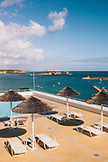 Swimming pool at Memmo Baleeira hotel. Sagres, Algarve