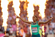 Great Britain, London - 2017 August 13: Caster Semenya from South Africa competes in women&rsquo;s 800 meters final during IAAF World Championships London 2017 Day 10 at London Stadium on August 13, 2017 in London, Great Britain.<br /> <br /> Mandatory credit:<br /> Photo by &copy; Adam Nurkiewicz<br /> <br /> Adam Nurkiewicz declares that he has no rights to the image of people at the photographs of his authorship.<br /> <br /> Picture also available in RAW (NEF) or TIFF format on special request.<br /> <br /> Any editorial, commercial or promotional use requires written permission from the author of image.