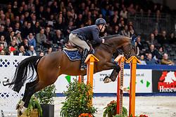 Veldhuis Steven, NED, Je Suis Equis Tame<br /> KWPN Hengstenkeuring - 's Hertogenbosch 2019<br /> © Hippo Foto - Dirk Caremans<br /> 31/01/2019
