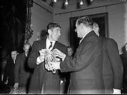 Ronnie Delaney Welcomed Home from Melbourne at Mansion House.19/12/1956