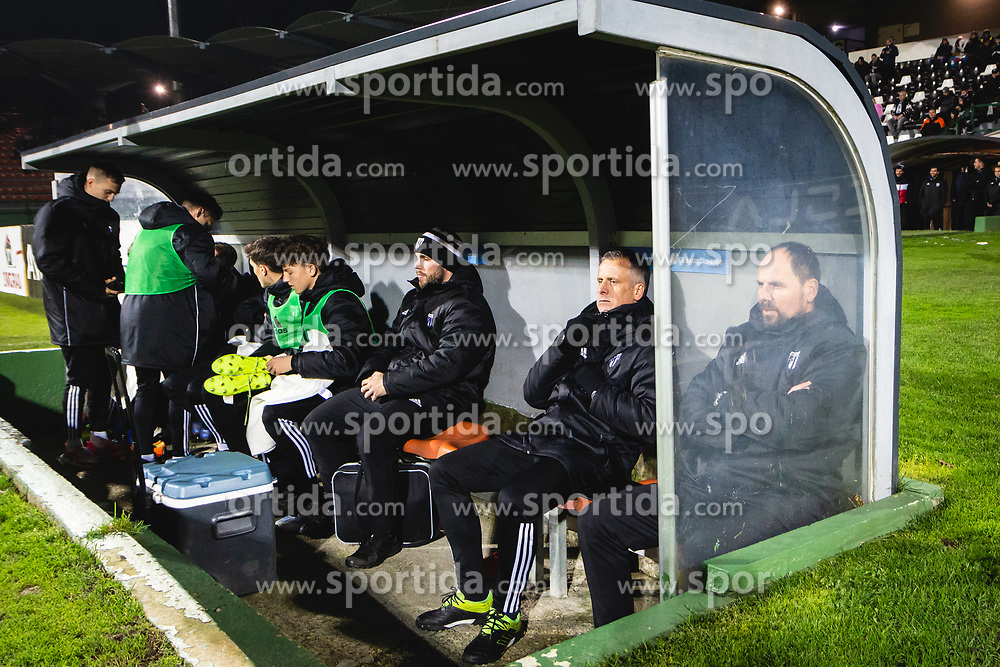 bench of mura before football match between NŠ Mura and NK Bravo in 20th Round of Prva liga Telekom Slovenije 2019/20, on December 5, 2019 in Fazanerija, Murska Sobota, Slovenia. Photo by Blaž Weindorfer / Sportida