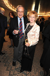 SHAW TAYLOR and SHIRLEY FERRARI at a tribute lunch in honour of Michael Aspel hosted by The Lady Taverners at The Dorchester, Park Lane, London on 14th November 2008.
