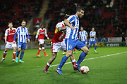 Brighton & Hove Albion centre forward Tomer Hemed (10) during the EFL Sky Bet Championship match between Rotherham United and Brighton and Hove Albion at the AESSEAL New York Stadium, Rotherham, England on 7 March 2017.
