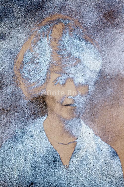 emulsion oxidizing photo portrait of a adult woman