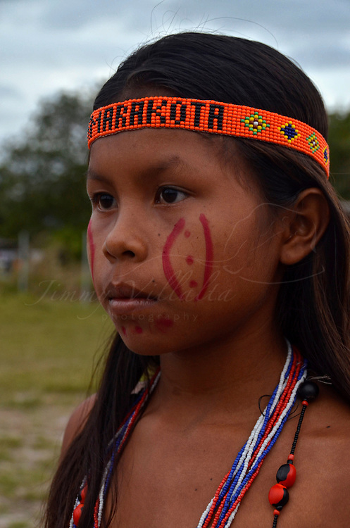 Niña Pemon de la comunidad de Kamarata. Edo. Bolivar. Venezuela. Pemon girl of Kamarata community. Edo. Bolivar. Febrero 24, 2013. Jimmy Villalta.