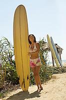 Longboarder at Beach
