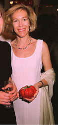 MRS HANS KRISTIAN RAUSING daughter in law of the packaging millionaire, at a ball in London on 14th May 1998.MHN 10 woro