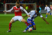 Fleetwood Town Midfielder Jimmy Ryan during the Sky Bet League 1 match between Fleetwood Town and Walsall at the Highbury Stadium, Fleetwood, England on 15 March 2016. Photo by Pete Burns.