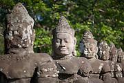Statues of Angkor warriors (Cambodia)