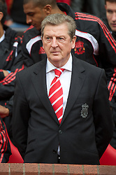 MANCHESTER, ENGLAND - Sunday, September 19, 2010: Liverpool's manager Roy Hodgson before the Premiership match against Manchester United at Old Trafford. (Photo by David Rawcliffe/Propaganda)