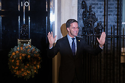 London, UK. 3 December, 2019. Mark Rutte, Prime Minister of the Netherlands, arrives for a reception for NATO leaders at 10 Downing Street on the eve of the military alliance's 70th anniversary summit at a luxury hotel near Watford.