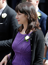 © Licensed to London News Pictures. 20/06/2016. London, UK. RACHEL REEVES MP arrives at St Margaret's Church, Westminster Abbey to take part in a Service of Prayer and Remembrance to commemorate Jo Cox MP, who was killed in her constituency on June 16, 2016. Photo credit: Peter Macdiarmid/LNP