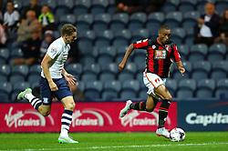 Junior Stanislas of Bournemouth attacks - Mandatory byline: Matt McNulty/JMP - 07966386802 - 22/09/2015 - FOOTBALL - Deepdale Stadium -Preston,England - Preston North End v Bournemouth - Capital One Cup - Third Round