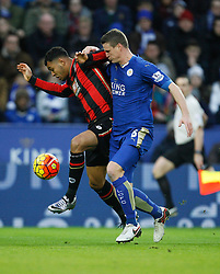 Joshua King of Bournemouth (L) and Robert Huth of Leicester City in action  - Mandatory byline: Jack Phillips/JMP - 07966386802 - 02/01/2016 - SPORT - FOOTBALL - Leicester - King Power Stadium - Leicester City v AFC Bournemouth - Barclays Premier League