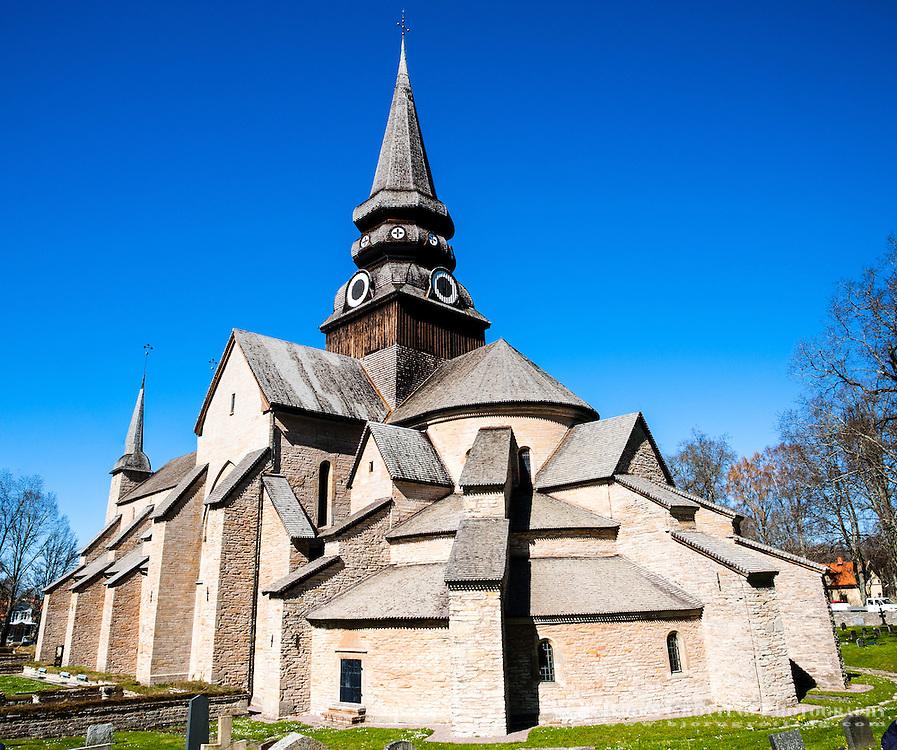 Sweden, Skara. Varnhem Abbey. Stitched panorama.