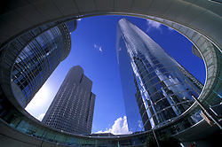 Stock photo of the Enron buildings in downtown.