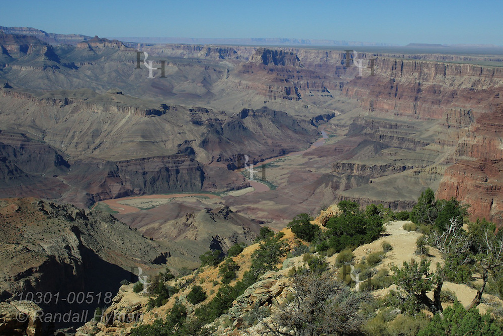 Desert View overlooks Colorado River and east end of the South Rim of Grand Canyon National Park, Arizona.