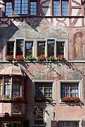 Historische Häuser am Rathausplatz, Stein am Rhein, Bodensee, Thurgau, Schweiz