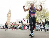 Competitors Run through Parliament Square at The Virgin Money London Marathon, Sunday 26th April 2015.<br /> <br /> Photo: Thomas Lovelock for Virgin Money London Marathon<br /> <br /> For more information please contact Penny Dain at pennyd@london-marathon.co.uk