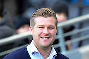 MK Dons manager Karl Robinson during the Sky Bet Championship match between Milton Keynes Dons and Reading at stadium:mk, Milton Keynes, England on 16 January 2016. Photo by Dennis Goodwin.