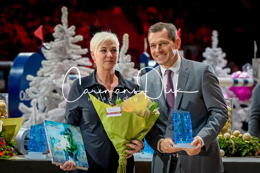 L'Année Hippique Awards<br /> Van der Net Inge, Mronz Michael, Managing Director CHIO Aachen<br /> CHI Genève 2019<br /> © Hippo Foto - Dirk Caremans<br />  14/12/2019
