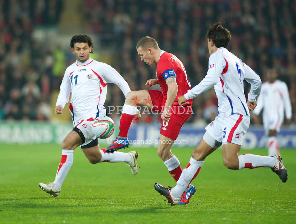 CARDIFF, WALES - Wednesday, February 29, 2012: Wales' Craig Bellamy in action against Costa Rica during the international friendly match at the Cardiff City Stadium. (Pic by David Rawcliffe/Propaganda)