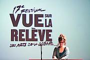 Klô Pelgag au lancement du 17e festival Vue sur la relève des arts de la scène du 4 au 21 avril 2012 /  le Lion d'Or / Montreal / Canada / 2012-03-06, © Photo Marc Gibert / adecom.ca