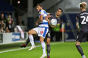 Queens Park Rangers forward Tomer Hemed (16) on loan from Brighton & Hove Albion battles with Sheffield Wednesday midfielder Joey Pelupessy (8) during the EFL Sky Bet Championship match between Queens Park Rangers and Sheffield Wednesday at the Loftus Road Stadium, London, England on 23 October 2018.