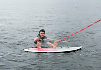 Water sports session with Curtis family and Bradley family on Lake Winnipesaukee.  ©2014 Karen Bobotas Photographer