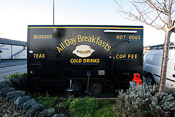 UNITED KINGDOM WALES ANGLESEY 18NOV10 - Flaming Grill caravan in the village of Valley in Anglesey, north Wales where Prince William serves as an RAF Search and Rescue helicopter pilot...Prince William has been seen ordering a bacon and egg burger at this place...jre/Photo by Jiri Rezac..© Jiri Rezac 2010