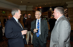 LIVERPOOL, ENGLAND - Friday, May 7, 2010: Liverpool Echo reporter Ken Rogers with former Everton, Liverpool and Tranmere player Dave Hickson during an Everton Charity Dinner to support Health Through Sport. (Pic by: David Rawcliffe/Propaganda)