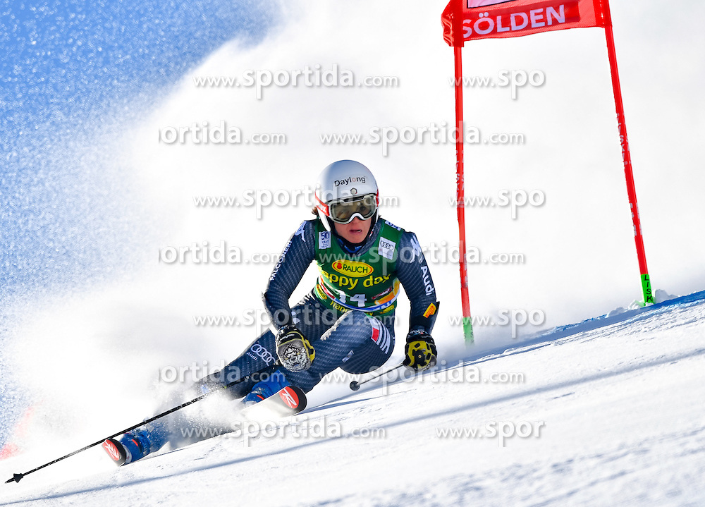 22.10.2016, Rettenbachferner, Soelden, AUT, FIS Weltcup Ski Alpin, Soelden, Riesenslalom, Damen, 1. Durchgang, im Bild Irene Curtoni (ITA) // Irene Curtoni of Italy in action during 1st run of ladies Giant Slalom of the FIS Ski Alpine Worldcup opening at the Rettenbachferner in Soelden, Austria on 2016/10/22. EXPA Pictures &copy; 2016, PhotoCredit: EXPA/ Nisse Schmid<br /> <br /> *****ATTENTION - OUT of SWE*****