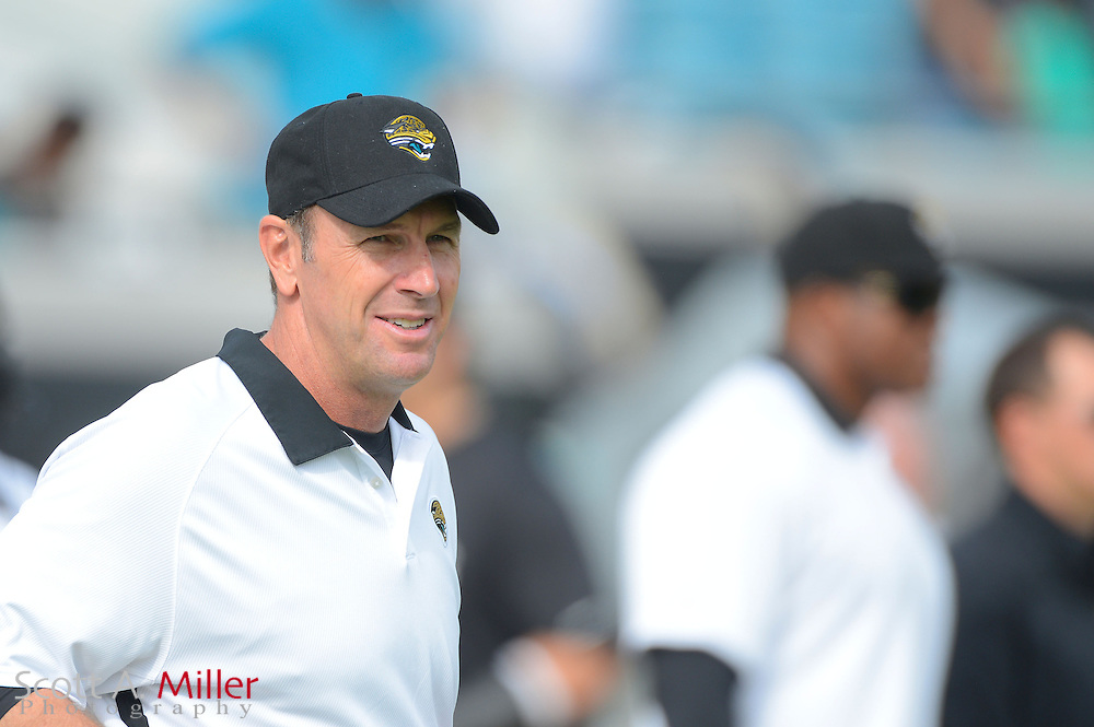 Jacksonville Jaguars head coach Mike Mularkey during an NFL game against the New York Jets at EverBank Field on Dec 9, 2012 in Jacksonville, Florida. The Jets won 17-10...©2012 Scott A. Miller..