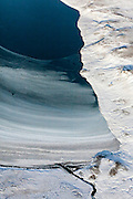 Aerial view of Reyðarvatn in the highlands of Iceland