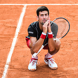 Novak Djokovic (Serbia) dejected during Day 10 for the French Open 2018 on June 5, 2018 in Paris, France. (Photo by Anthony Dibon/Icon Sport)